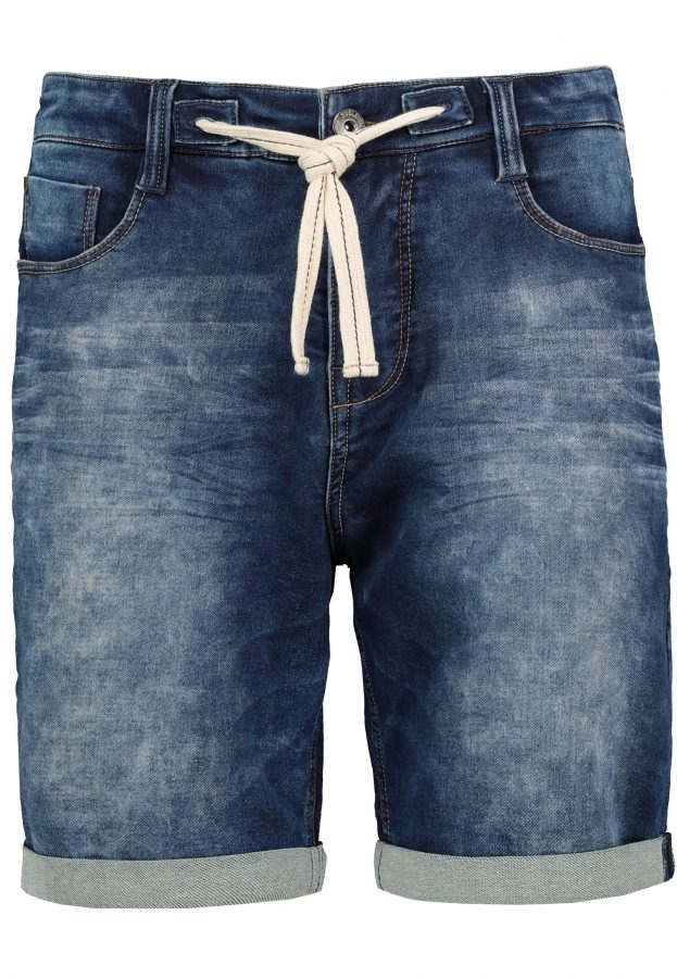 Sweat Denim Bermuda mit Kordel