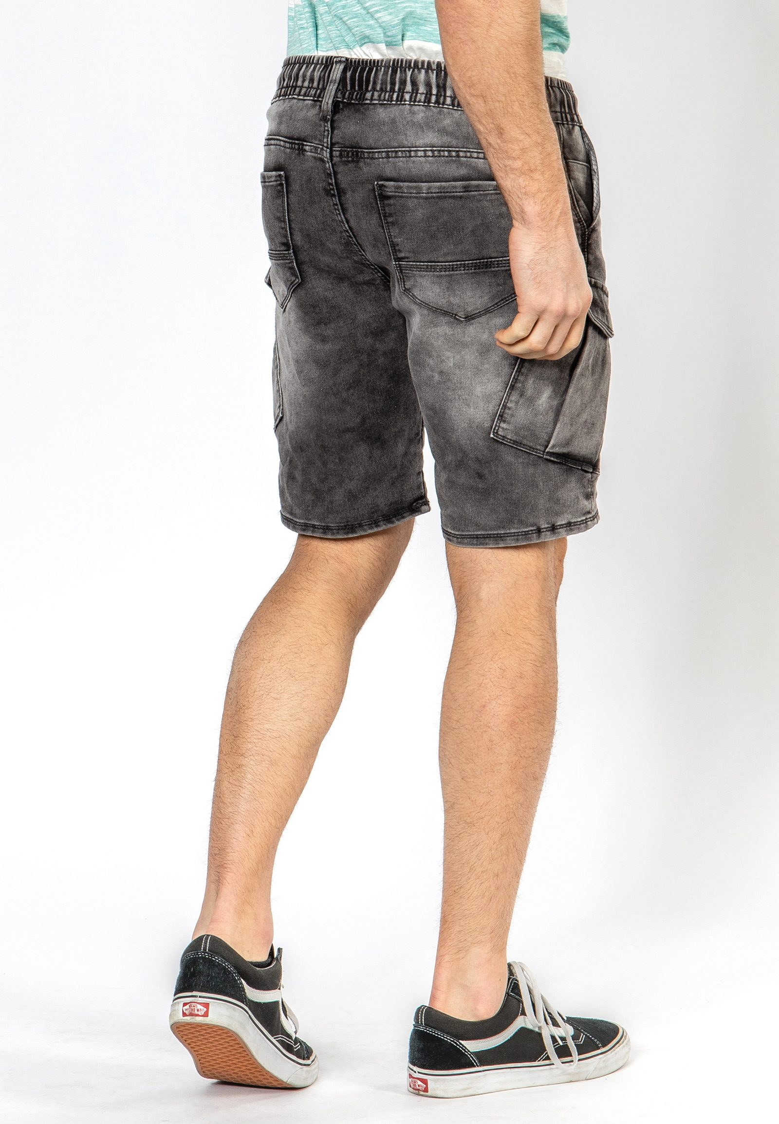 Vorschau: Sweat Denim-Optik Cargo Shorts
