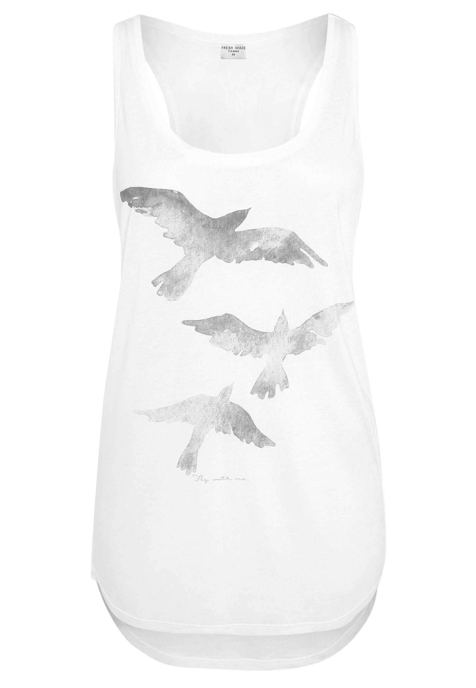 Damen Top mit Vogelprint