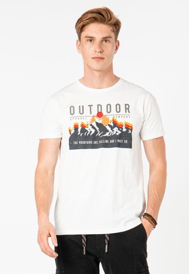 T-Shirt mit Adventure-Print