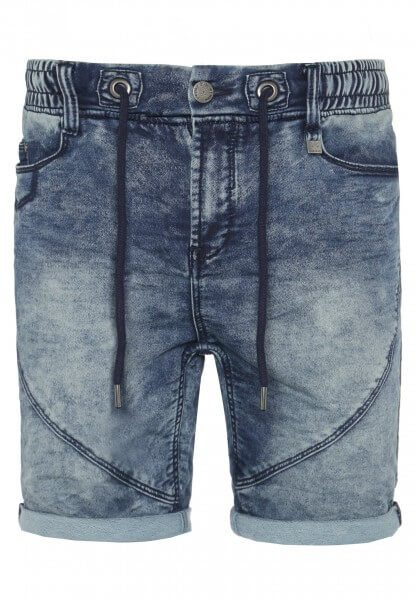 Herren Used Sweat Bermuda in Denim-Optik
