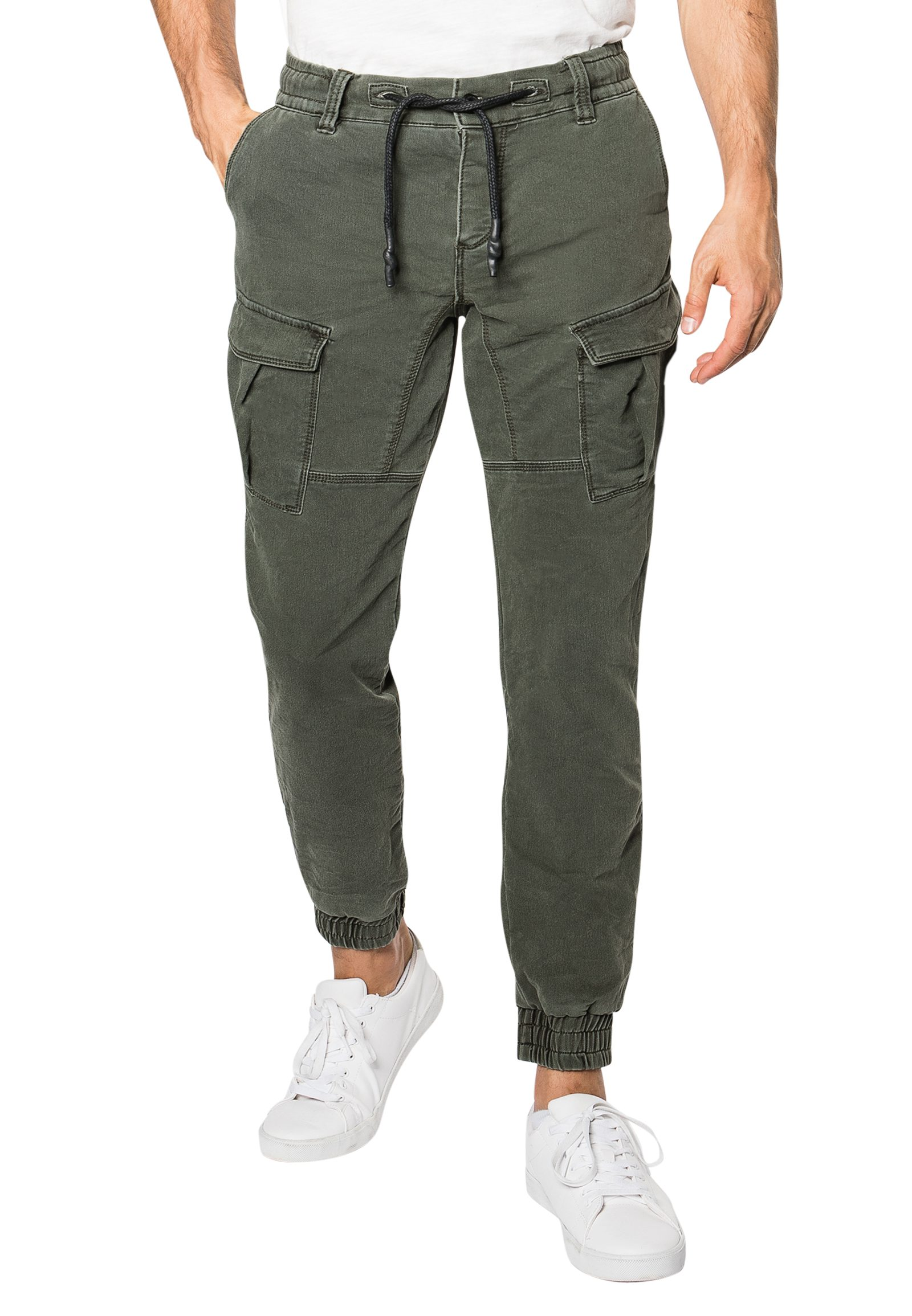 Vorschau: Cargo Sweat Hose in Denim-Optik