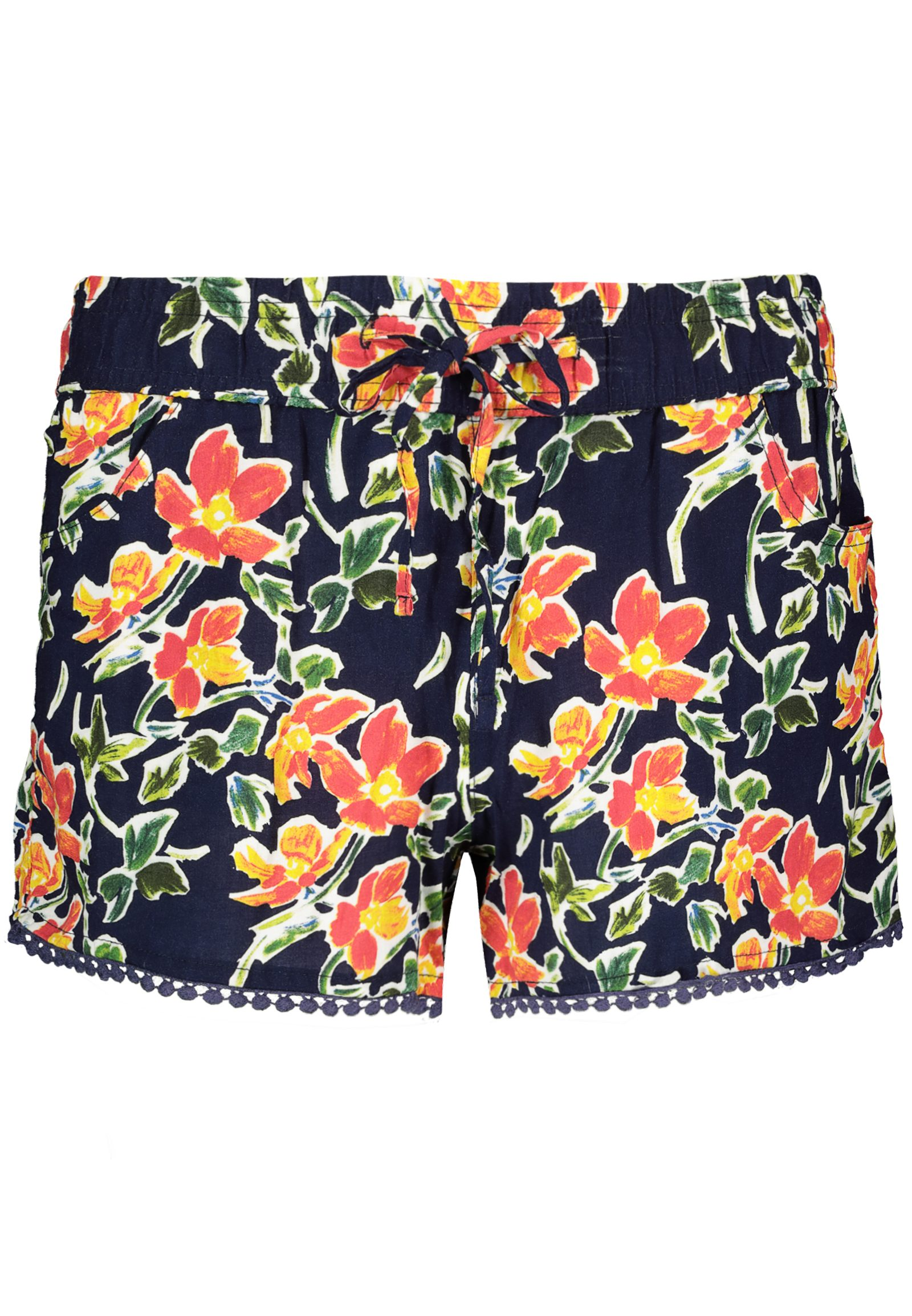 Hosen - Leichte Sommershorts mit Muster › Fresh Made › orange  - Onlineshop FASHION5