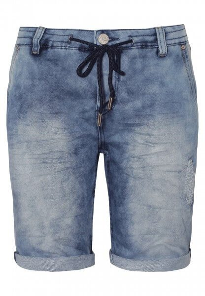 Sweat Bermuda - Jeans Optik
