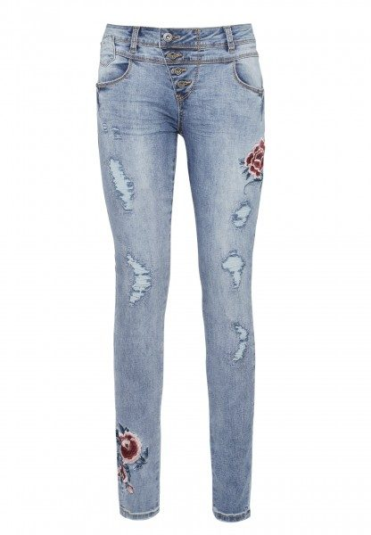 Jeans mit Stickereien BROOK