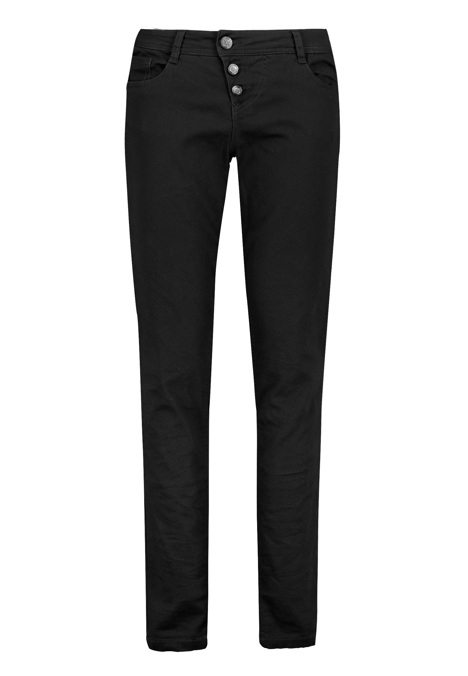 Hosen - Skinny Twillhose mit Knopfleiste › Eight2Nine › schwarz  - Onlineshop FASHION5