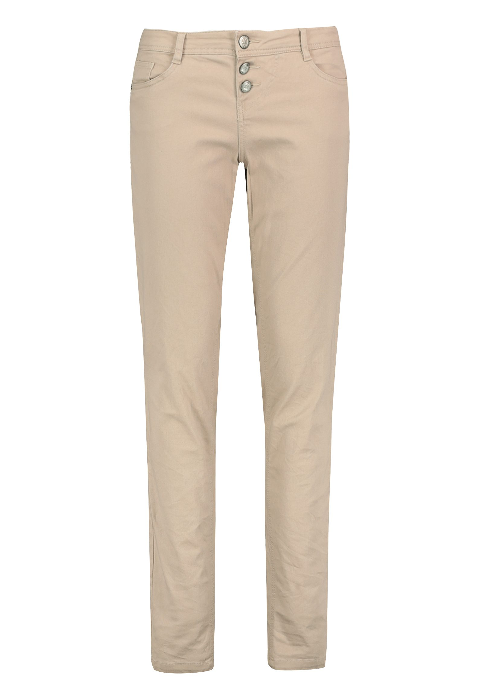 Hosen - Skinny Twillhose mit Knopfleiste › Eight2Nine › beige  - Onlineshop FASHION5