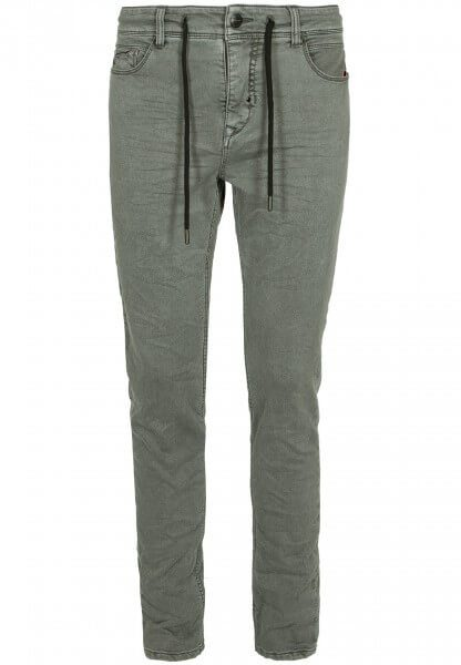 5-pocket Herren Sweat Hose in Denim-Optik