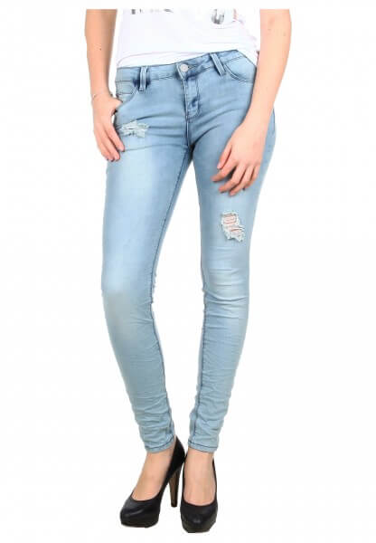 Hellblaue Slim Stretch Jeans