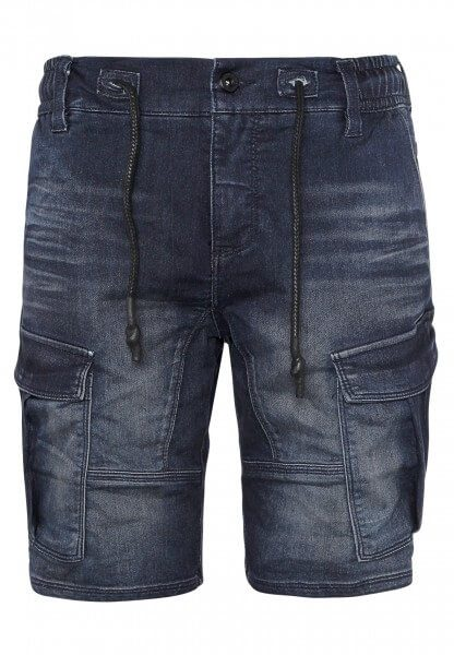Sweat Cargo Shorts in Denim-Optik