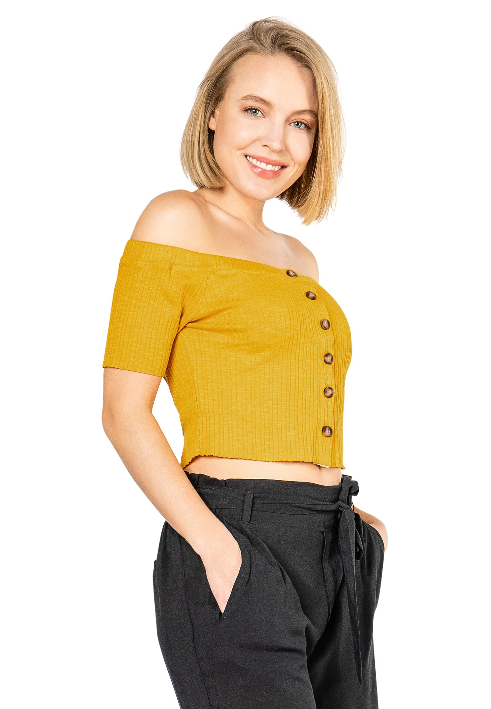 Vorschau: Off Shoulder Crop Shirt