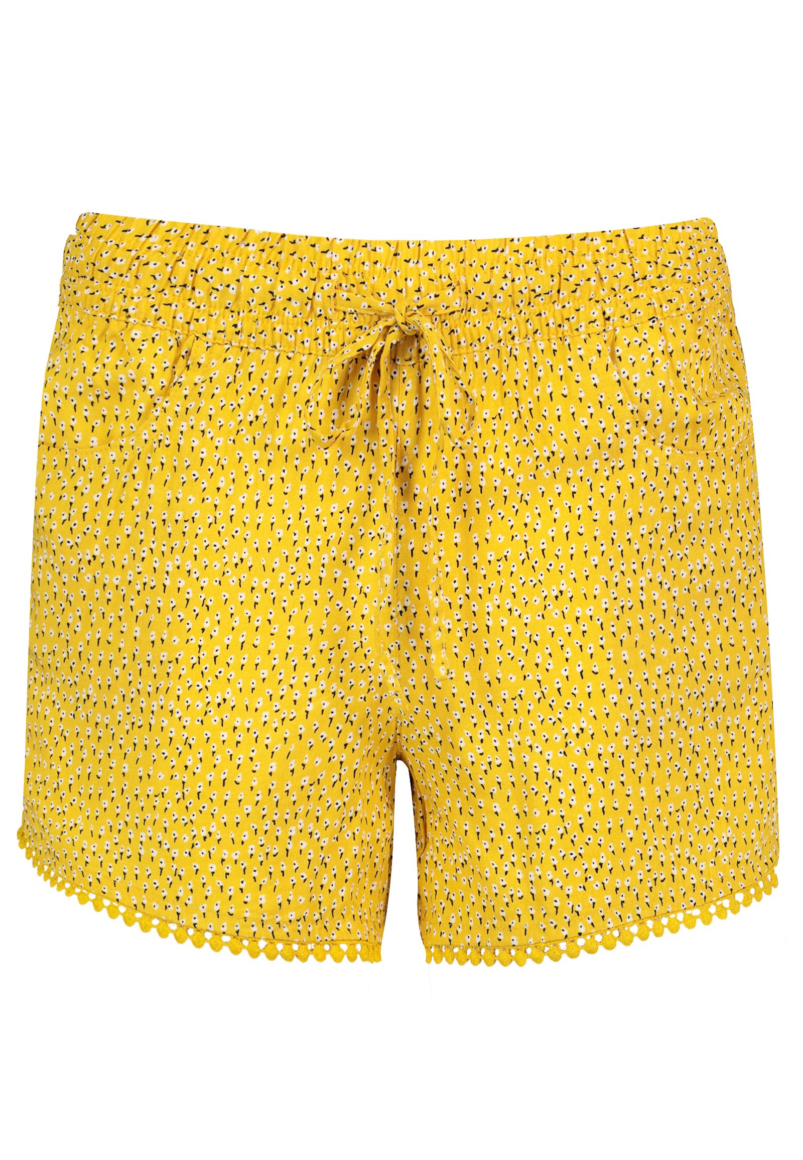 Hosen - Shorts mit Bommelborte › Fresh Made › gelb  - Onlineshop FASHION5