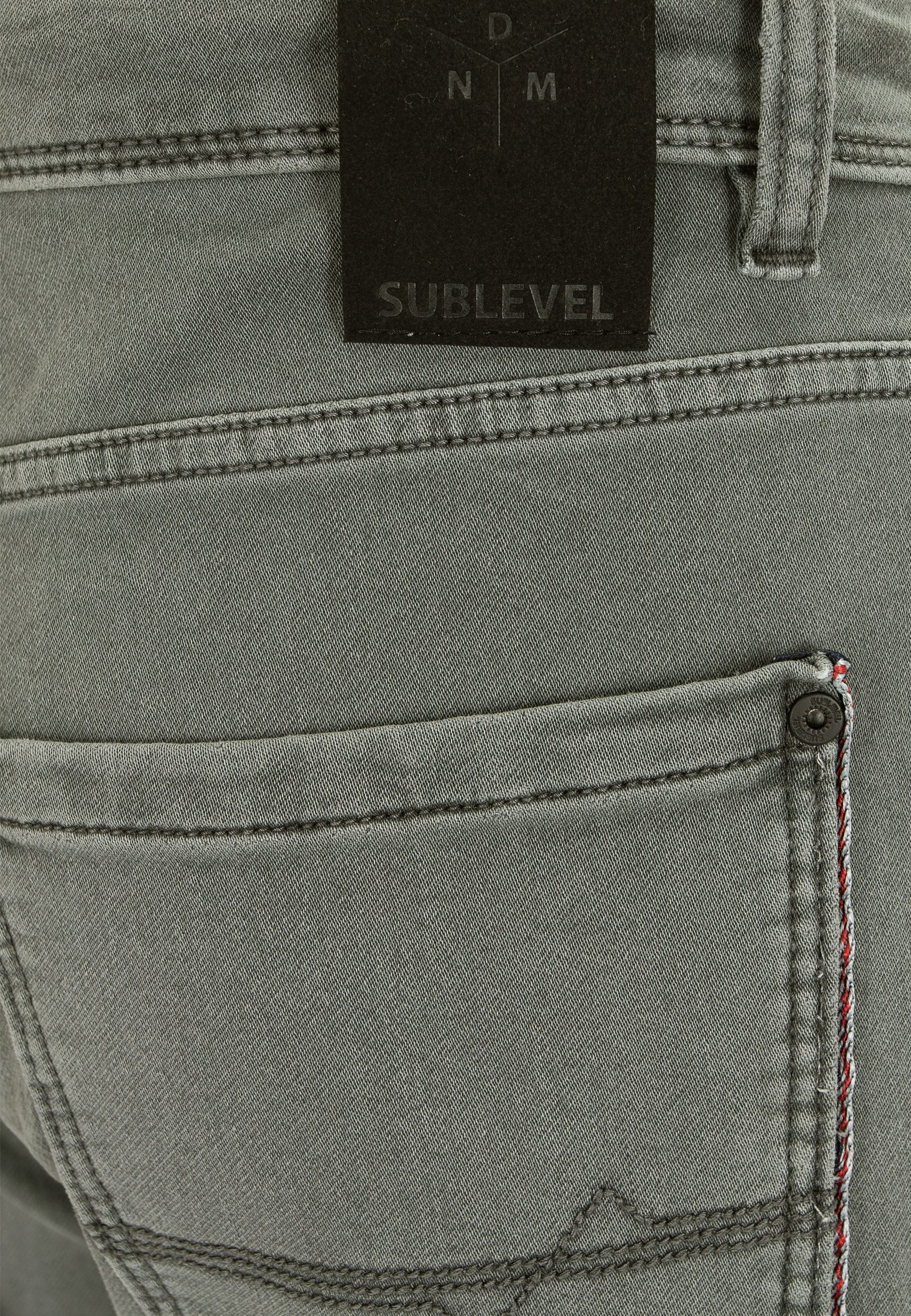 Vorschau: 5-pocket Herren Sweat Hose in Denim-Optik