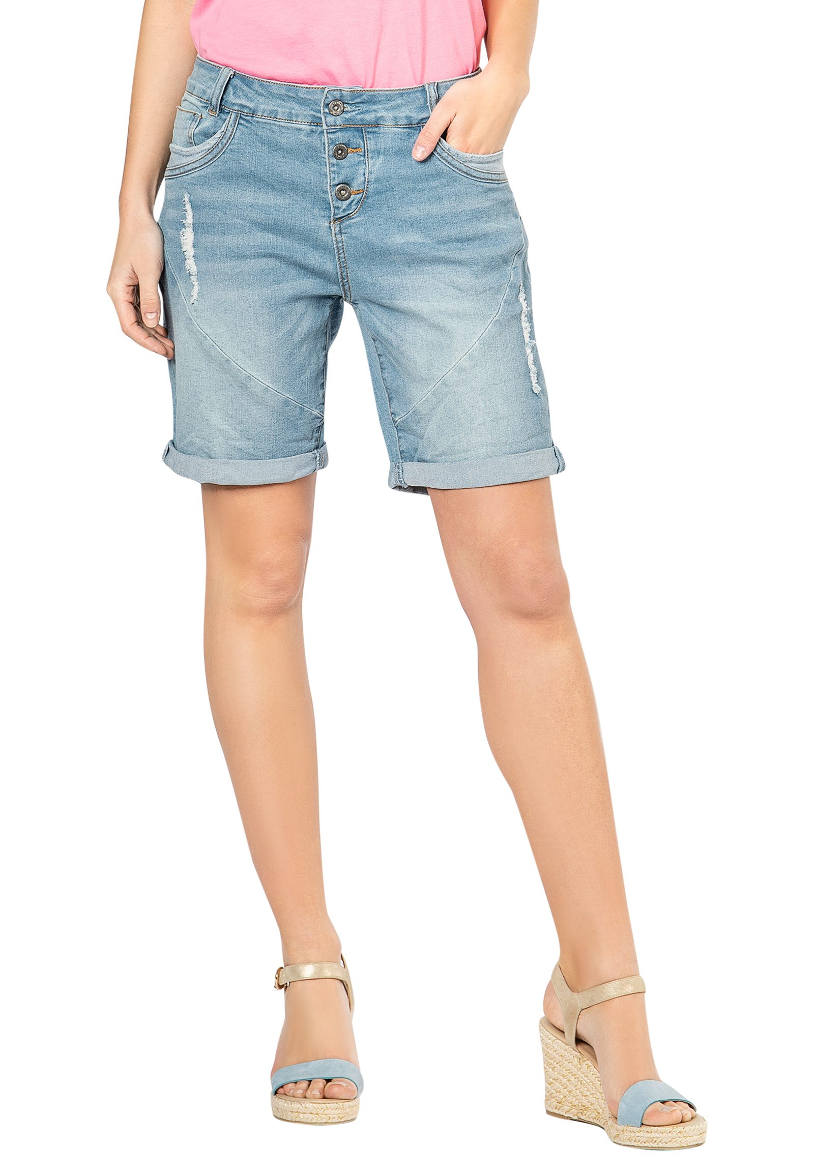 Hosen - Damen Jeans Bermuda › Fresh Made › blau  - Onlineshop FASHION5