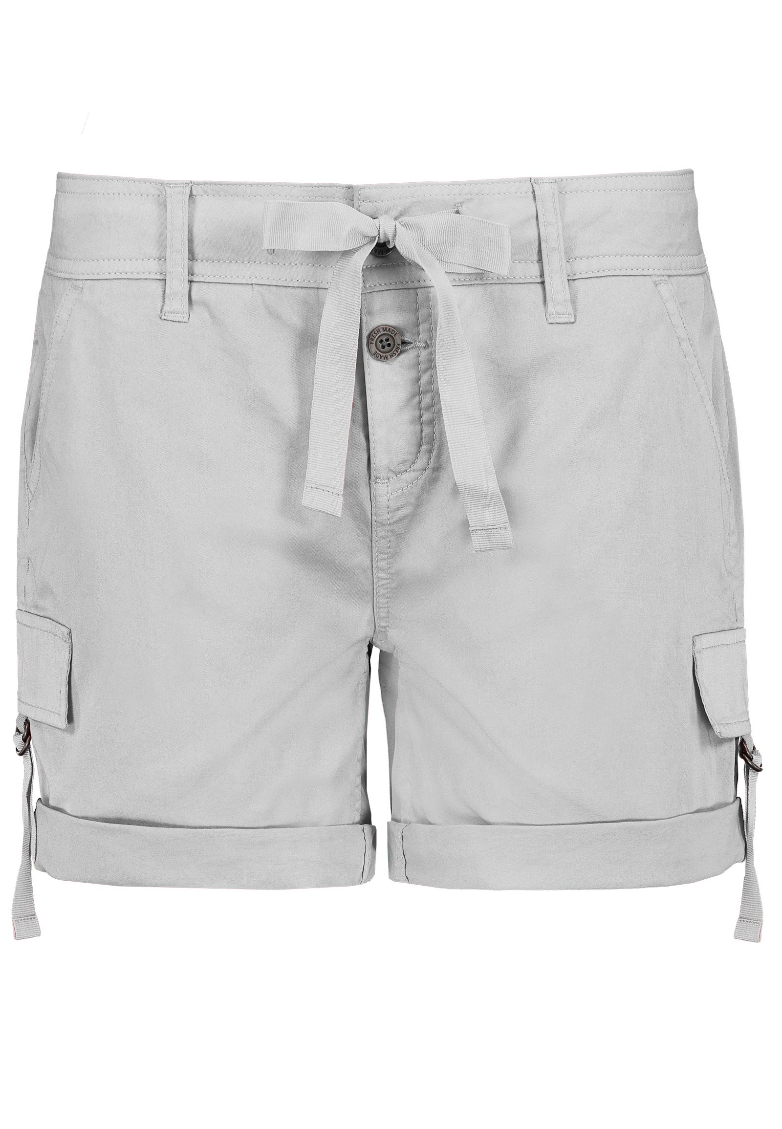 Hosen - Shorts mit Satinbändern › Fresh Made › grau  - Onlineshop FASHION5