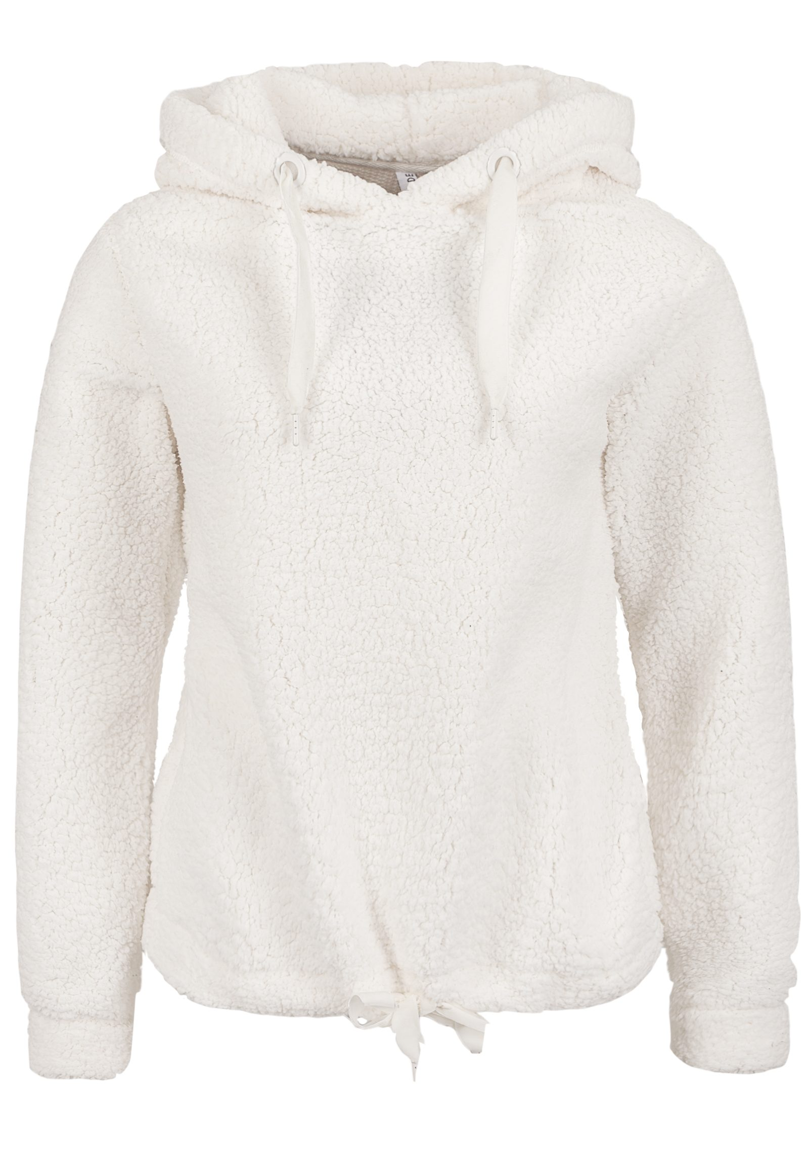 Damen Fresh Made Fleece Pulli mit Samt-Kordeln weiß | 04058427547369