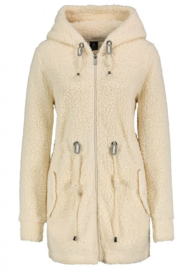 Fleece Parka mit Kapuze