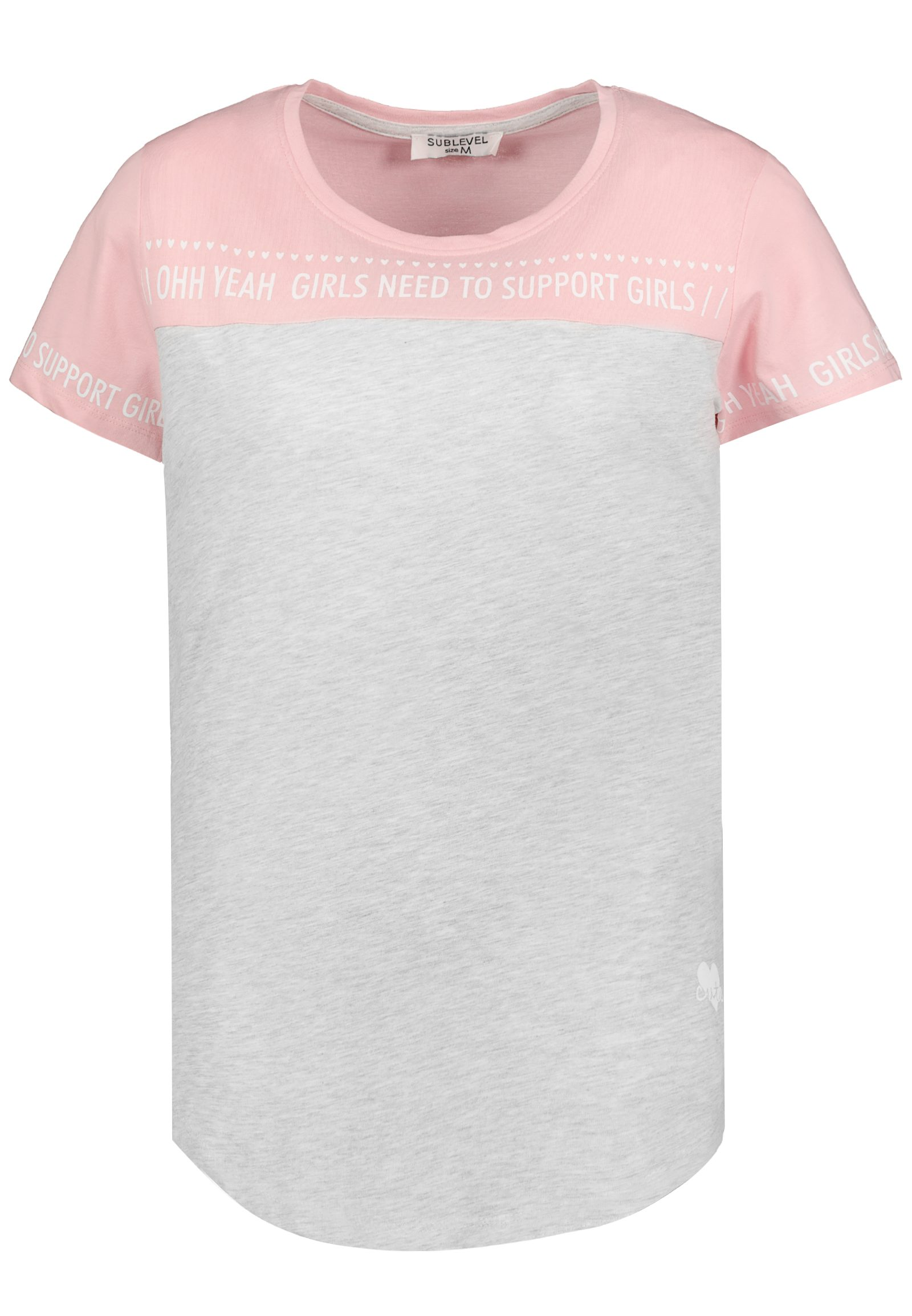 Vorschau: Shirt im Colourblock Design mit Statement