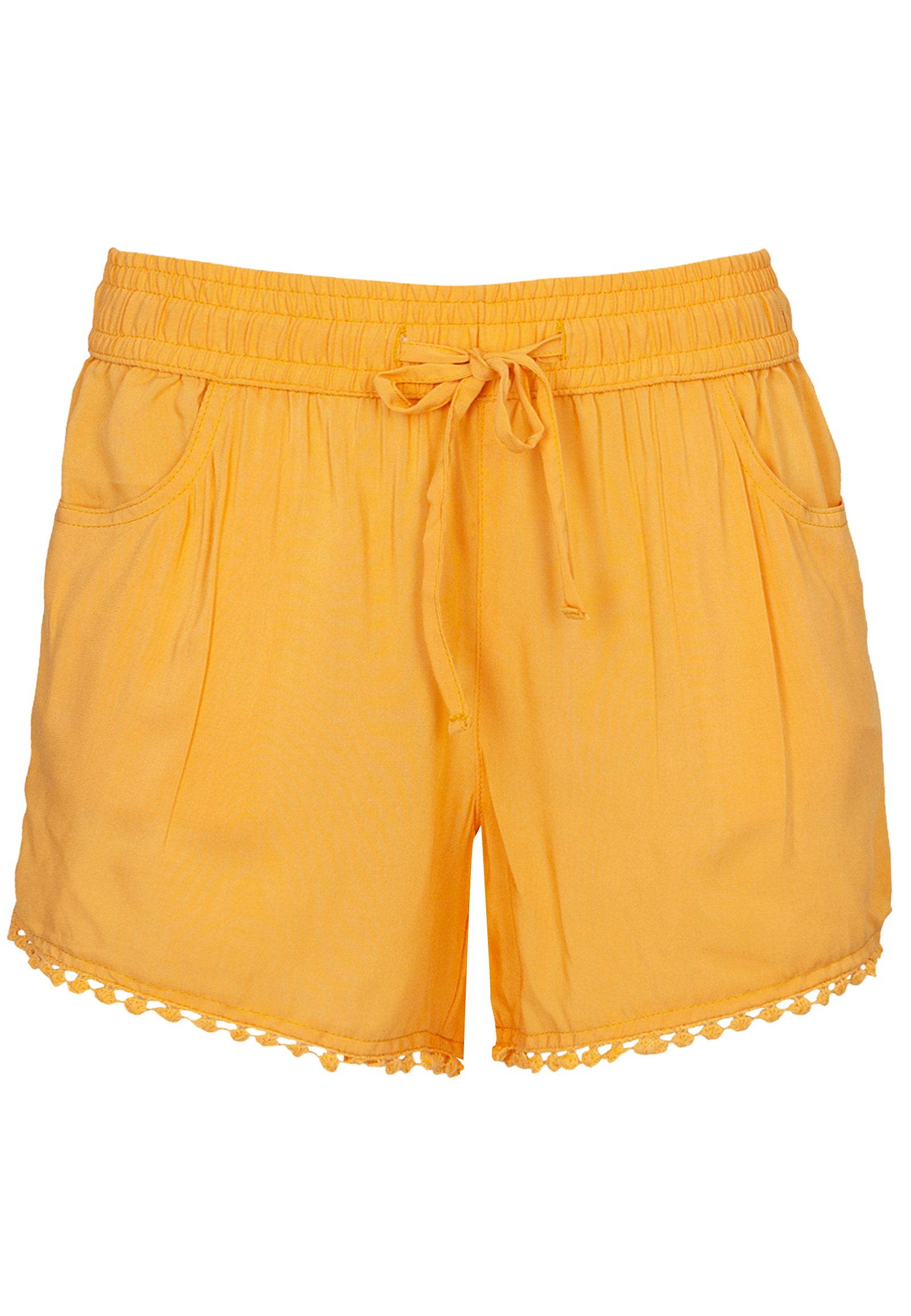 Hosen - Shorts mit Häkelborte › Fresh Made › gelb  - Onlineshop FASHION5